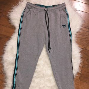 VS Pink Gray Jogger Sweatpants